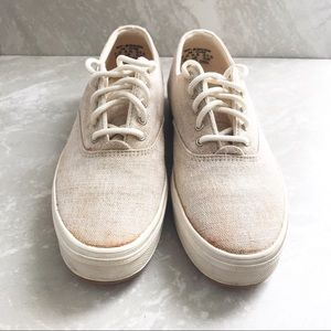 Keds Natural Lace-Up Sneakers-7